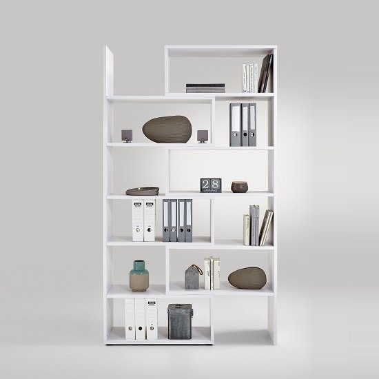 Marston Wooden Extendable Bookcase In White_3