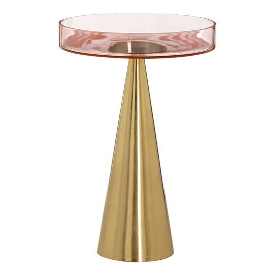 Itonda Large Glass Top Side Table With Iron Base   _1
