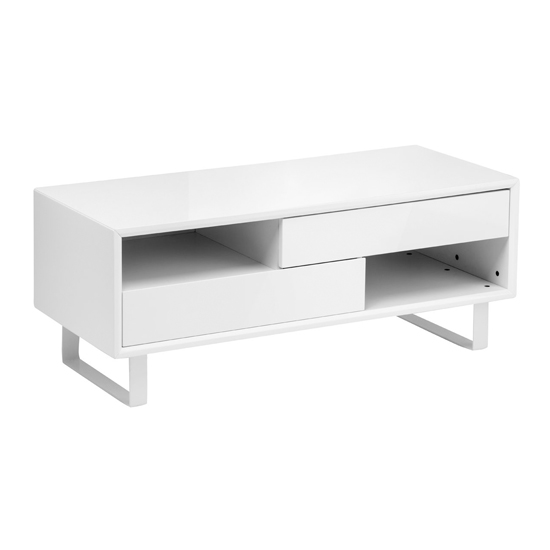 Martos Wooden High Gloss Coffee Table In White