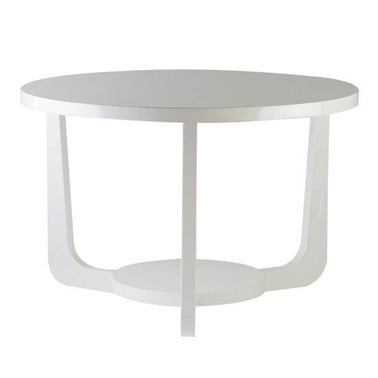 Martos Wooden High Gloss Side Table In White_1