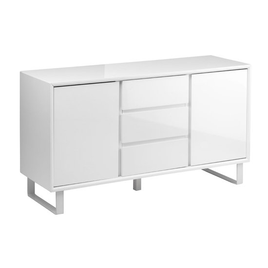 Martos Wooden High Gloss Sideboard In White
