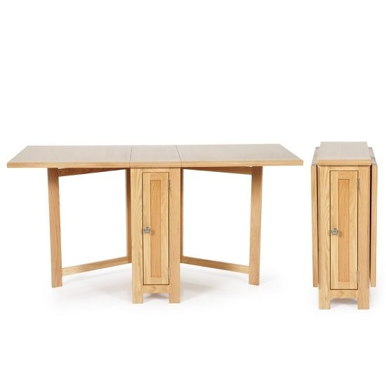 Maryland Wooden Folding Dining Table In Oak