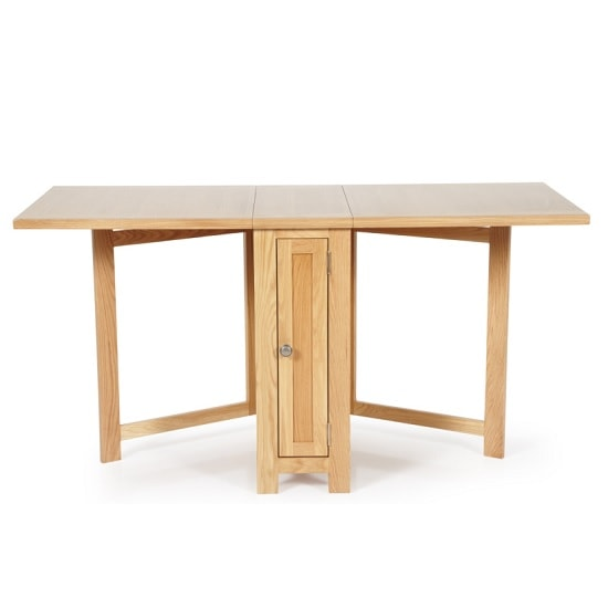 Maryland Wooden Folding Dining Table In Oak_4