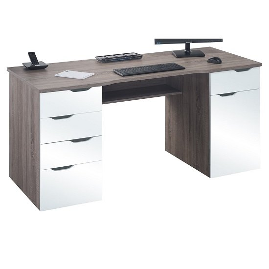 White Computer Desk Shop For Cheap Office Supplies And