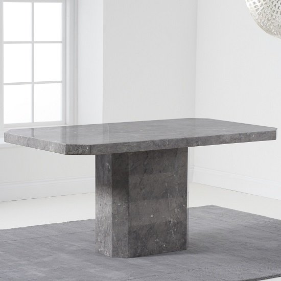 Massa Marble Dining Table In Grey High Gloss_1