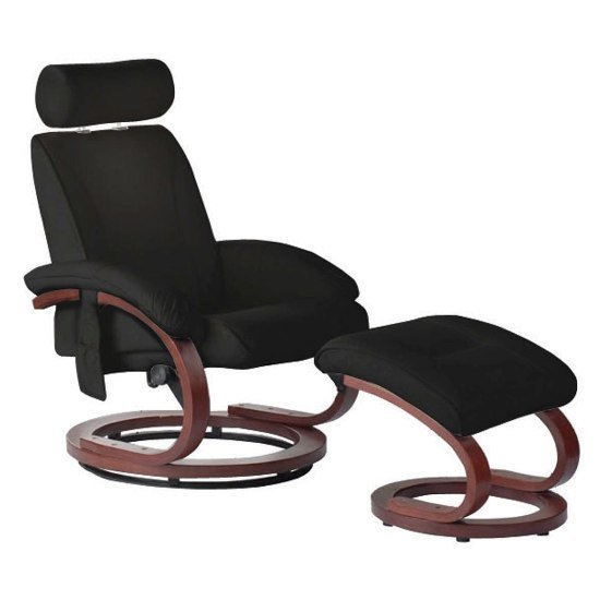 Bliss Massage Chair with Footstool in Black 2401833