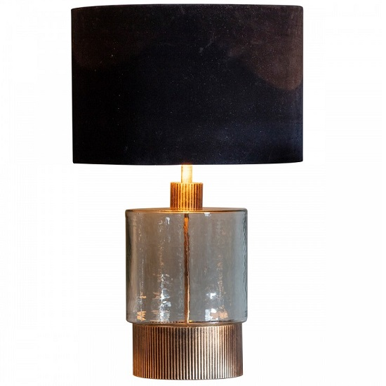 Mastro Table Lamp With Dappled Glass Base