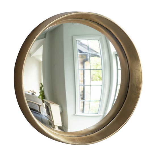 Matanzas Large Convex Bedroom Mirror In Gold_1