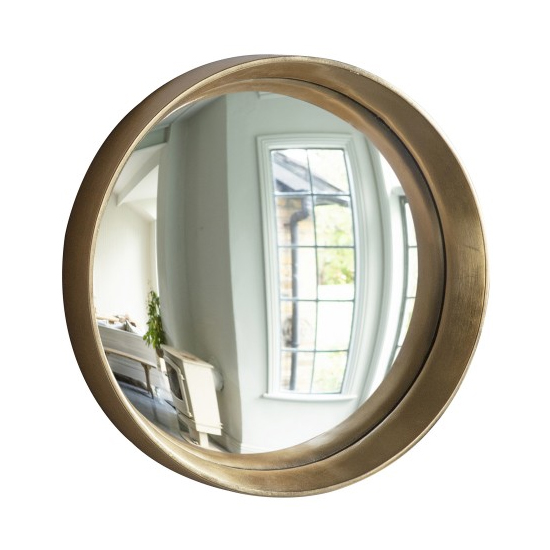 Matanzas Small Convex Bedroom Mirror In Gold