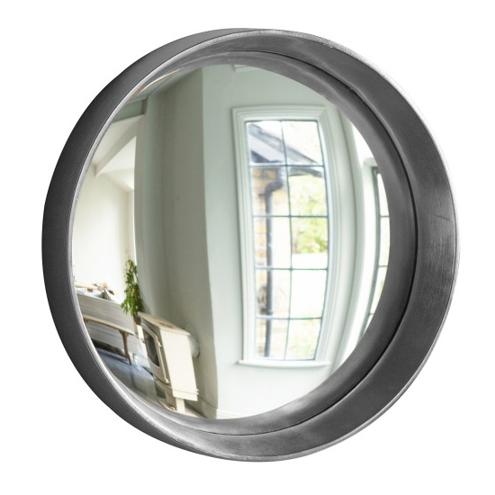 Matanzas Small Convex Bedroom Mirror In Silver