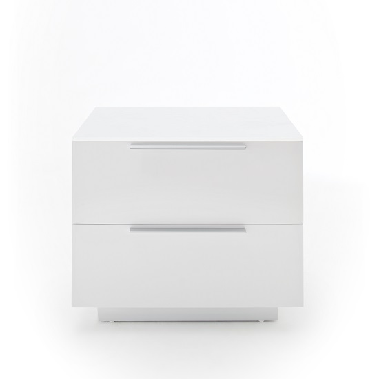 Fresh Bedside Cabinet In White Glass Top And High Gloss_2