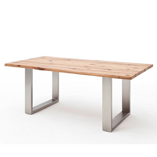 Product photograph showing Matras Small Dining Table In Wild Oak
