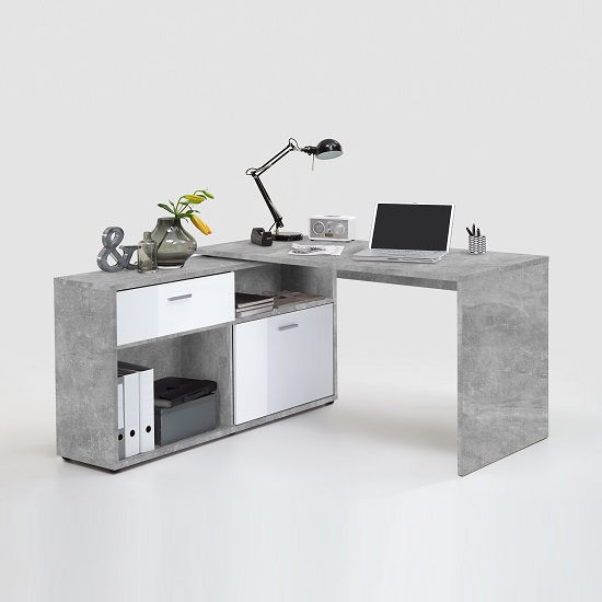Mattia Corner Computer Desk In White Gloss And Light Atelier_2