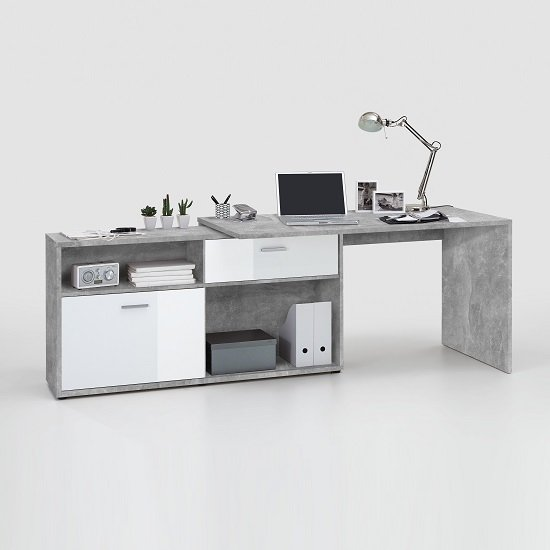 Mattia Corner Computer Desk In White Gloss And Light Atelier_4
