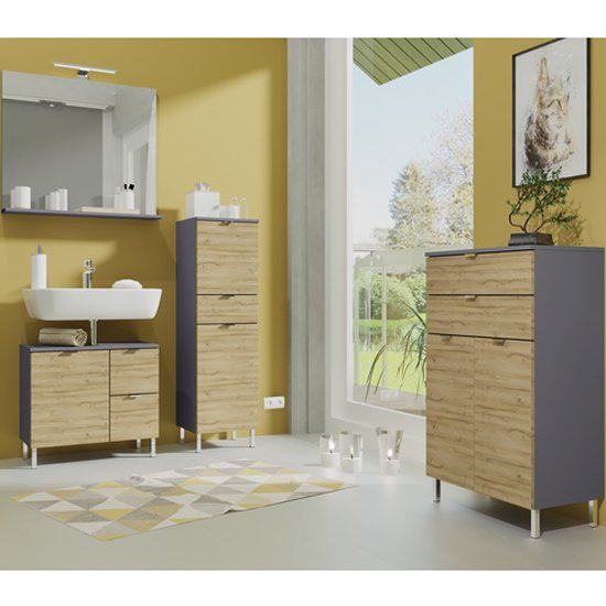 Mauresa Chest Of Drawers In Graphite And Grandson Oak_3