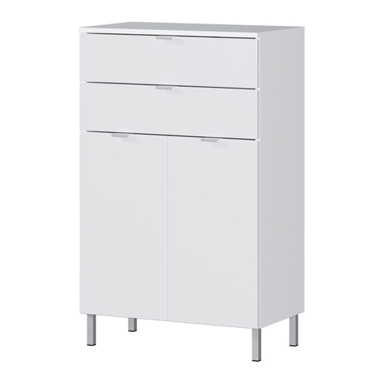 Mauresa Chest Of Drawers In White High Gloss