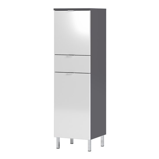 Mauresa Storage Cabinet In Graphite And White High Gloss