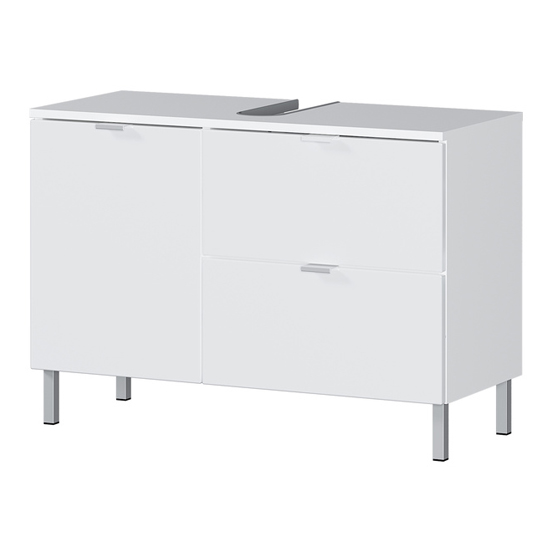 Mauresa Wide Basin Vanity Unit In White High Gloss