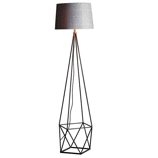 Mauro Drum Shade Floor Lamp With Metal Base