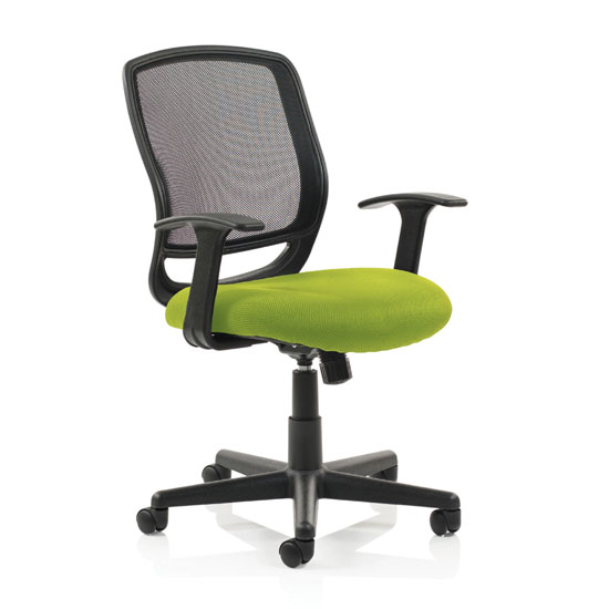 Mave Task Black Back Office Chair With Myrrh Green Seat
