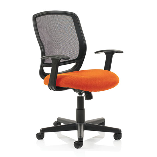 Mave Task Black Back Office Chair With Tabasco Red Seat