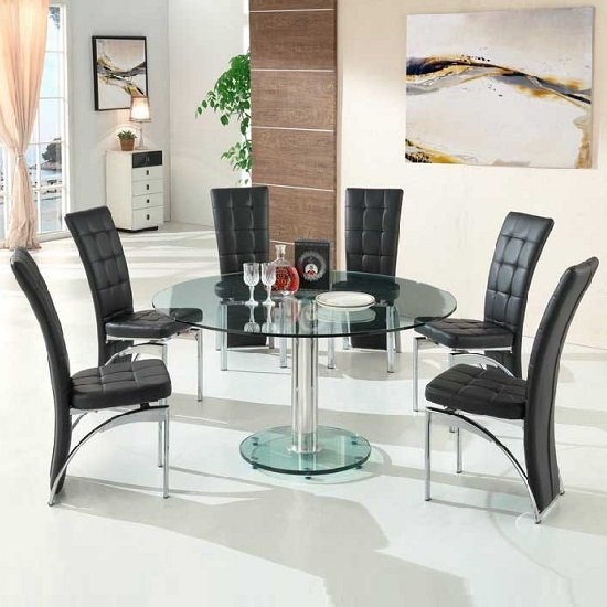 Furniture Design Abdelhamed Zain beautiful glass round dining table for 6 new update ideas page 78