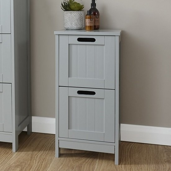 Maxima Wooden Chest Of Drawers In Grey With 2 Drawers