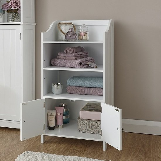 Maxima Wooden Storage Cupboard In White With 2 Doors_2