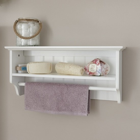 Maxima Wooden Wall Mounted Display Shelf In White_1