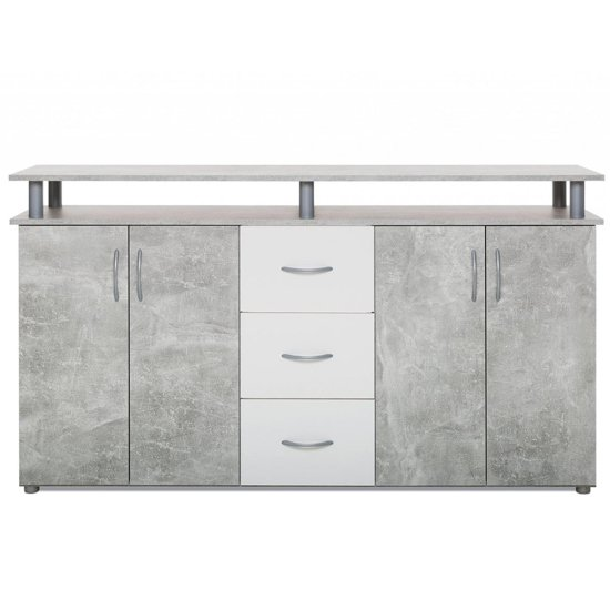 Maximo Sideboard In Structured Concrete And White_3