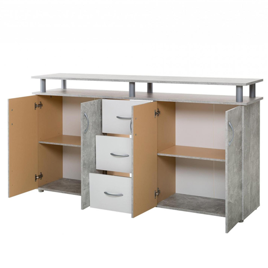 Maximo Sideboard In Structured Concrete And White_4