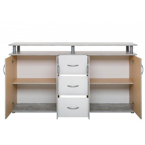 Maximo Sideboard In Structured Concrete And White_5