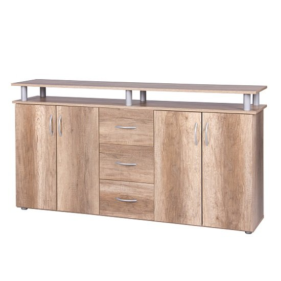 Maximo Sideboard In Wild Oak With 4 Doors And 3 Drawers