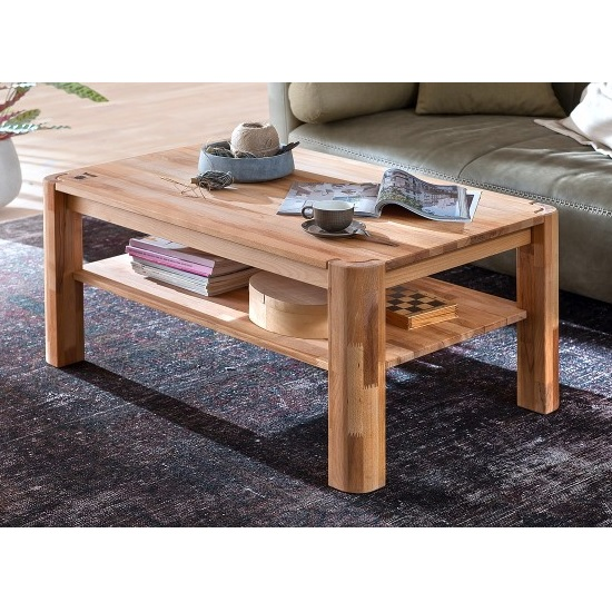 Maxine Wooden Coffee Table Rectangular In Beech Heartwood