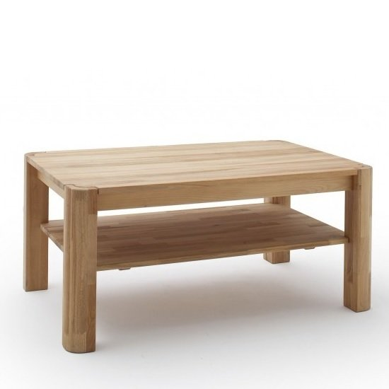 Maxine Wooden Coffee Table Rectangular In Knotty Oak