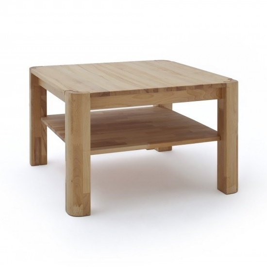 Maxine Wooden Coffee Table Square In Knotty Oak