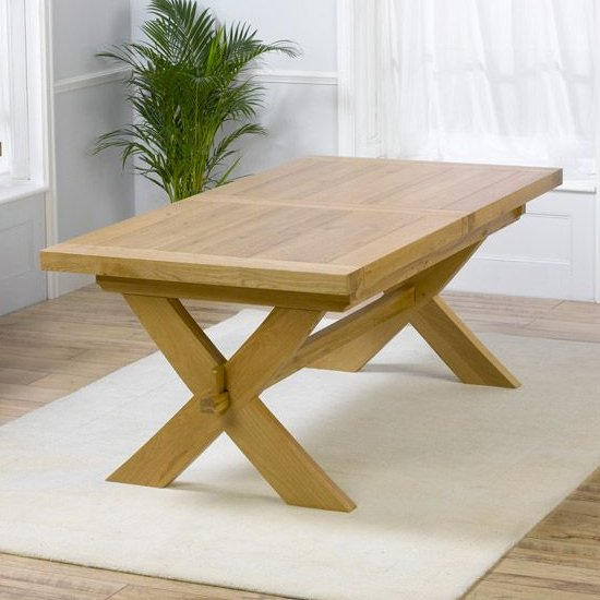 Mayfair Extending Rectangular Wooden Dining Table In Oak