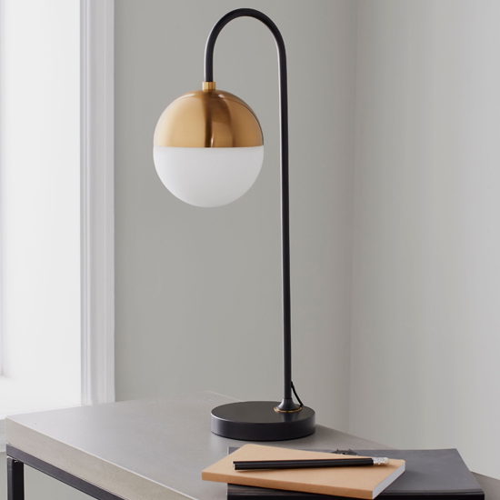 View Mayfair metal table lamp in black and gold