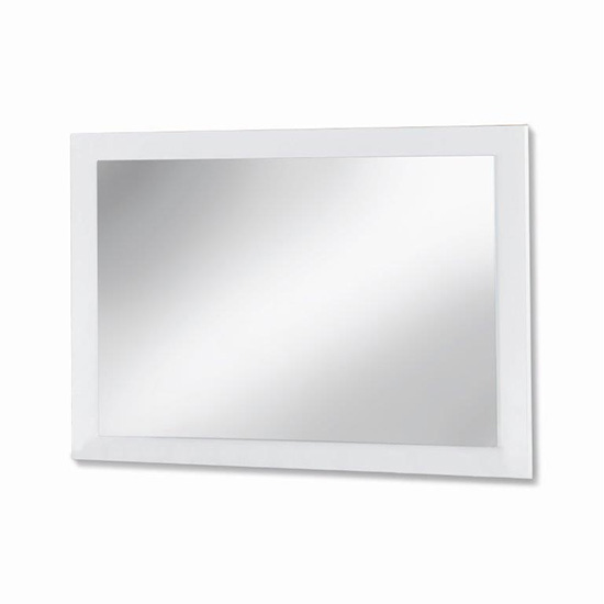 Mayon Bedroom Mirror In White High Gloss Wooden Frame