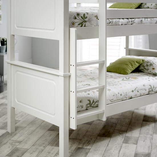bedroom furniture bunk beds mckenzie wooden bunk bed in white pine