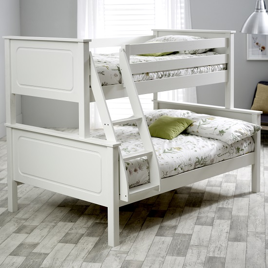 McKenzie Wooden Triple Sleeper Bunk Bed In White Pine