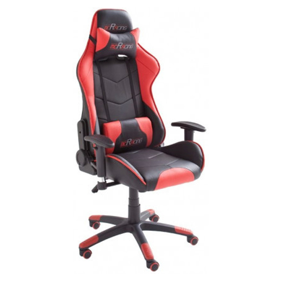McRacing Faux Leather Home And Office Chair In Black And Red