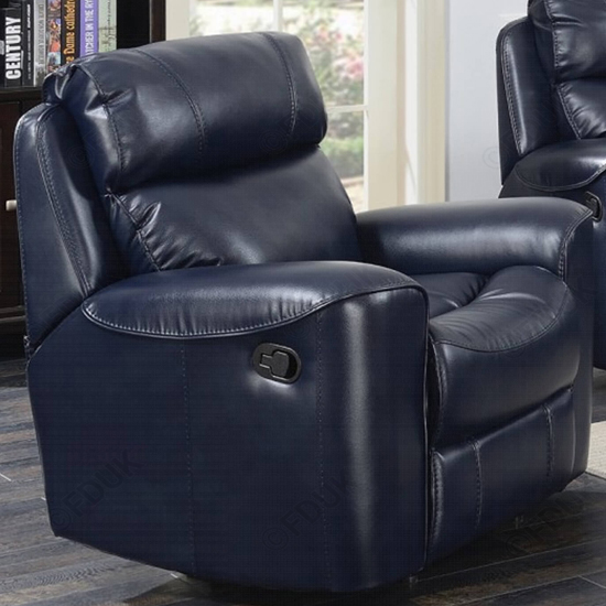 Mebsuta Leather Lounge Chaise Armchair In Navy_1