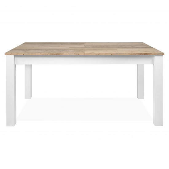 Mecoy Extending Dining Table In Old Style Bright And White