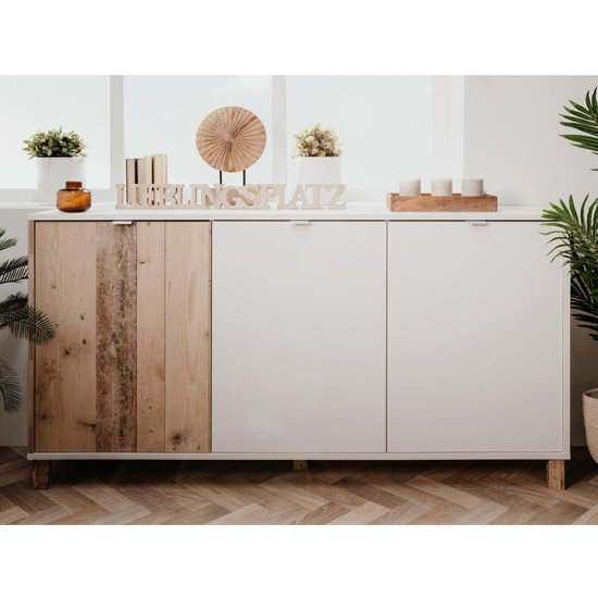 View Mecoy wooden sideboard in old style bright and white