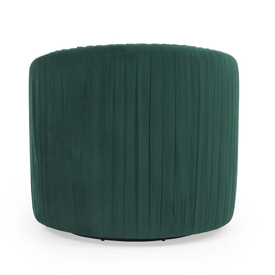 Medan Modern Swivel Sofa Chair In Green Velvet_3