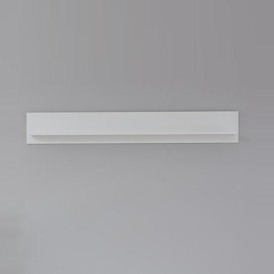 Median Wooden Wall Mounted Display Shelf In White