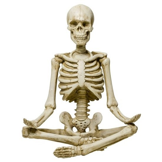 Meditating Model Skeleton Sculpture