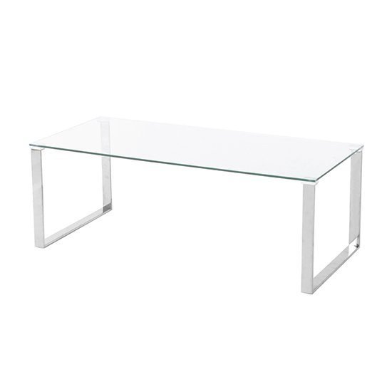 Megan Clear Glass Rectangular Coffee Table With Chrome Legs_2