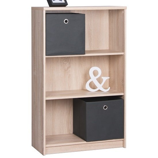 Meissen Shelving Unit In Sonoma Oak With 3 Open Compartment